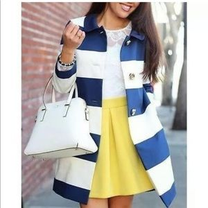 Kate Spade Franny Jacket - XL Blue and White